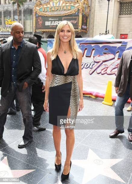 Heidi Klum attends 'America's Got Talent' Red Carpet Event held at the Dolby Theater on April 22 2014 in Los Angeles California