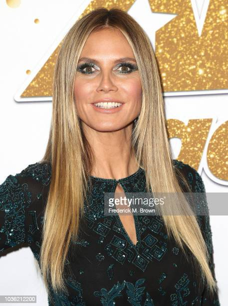 Heidi Klum attends America's Got Talent Season 13 Finale Live Show Red Carpet at the Dolby Theatre on September 19 2018 in Hollywood California