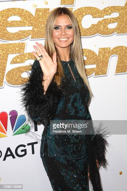 Heidi Klum attends 'America's Got Talent' Season 13 Finale Live Show Red Carpet at the Dolby Theatre on September 19 2018 in Hollywood California