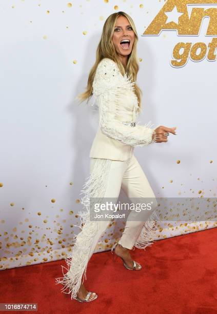 Heidi Klum attends America's Got Talent Season 13 Live Show Red Carpet at Dolby Theatre on August 14 2018 in Hollywood California