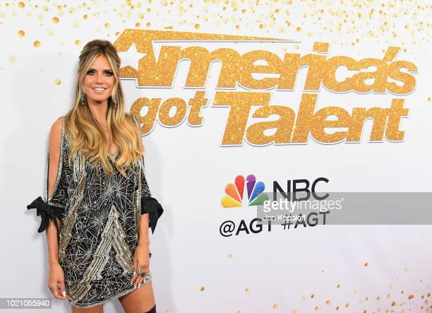 Heidi Klum attends America's Got Talent Season 13 Live Show Red Carpet at Dolby Theatre on August 21 2018 in Hollywood California