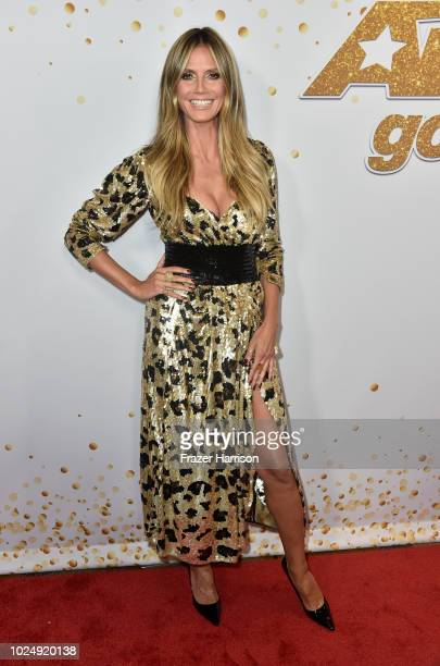 Heidi Klum attends 'America's Got Talent' Season 13 Live Show Red Carpet at Dolby Theatre on August 28 2018 in Hollywood California