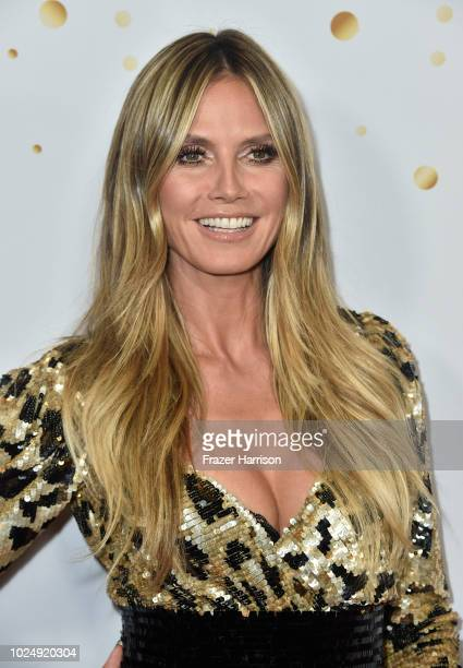 Heidi Klum attends America's Got Talent Season 13 Live Show Red Carpet at Dolby Theatre on August 28 2018 in Hollywood California