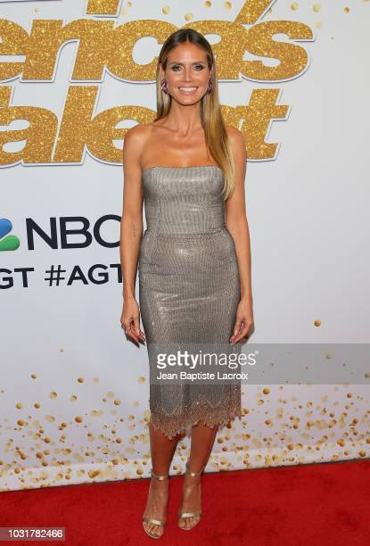 Heidi Klum attends America's Got Talent Season 13 Live Show Red Carpet on September 11 2018 in Los Angeles California