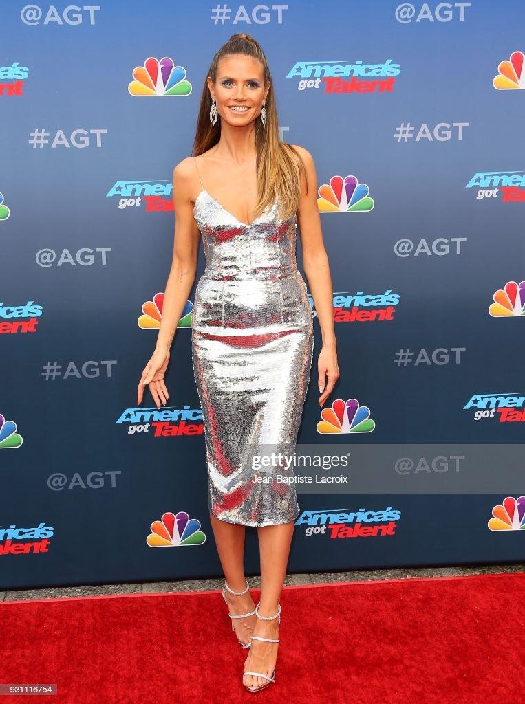 Heidi Klum attends 'America's Got Talent' Season 13 on March 12, 2018 in Pasadena, California.