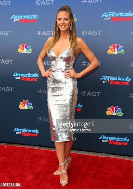 Heidi Klum attends 'America's Got Talent' Season 13 on March 12 2018 in Pasadena California