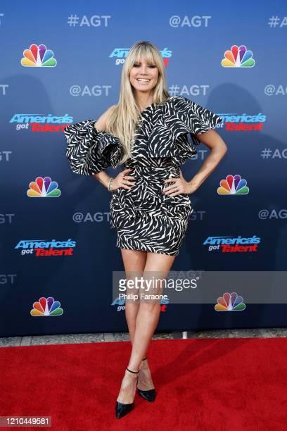 Heidi Klum attends America's Got Talent Season 15 Kickoff at Pasadena Civic Auditorium on March 04 2020 in Pasadena California