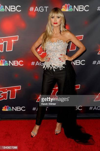 """Heidi Klum attends """"America's Got Talent"""" Season 16 Finale at Dolby Theatre on September 15, 2021 in Hollywood, California."""