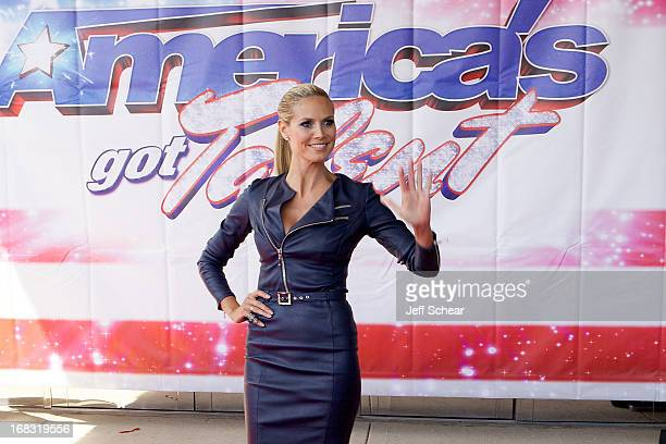Heidi Klum attends America's Got Talent season 8 meet the judges red carpet event at Akoo Theatre at Rosemont on May 8 2013 in Rosemont Illinois