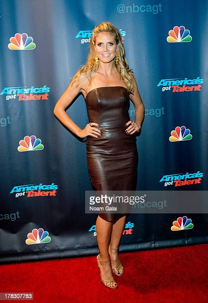 Heidi Klum attends America's Got Talent Season 8 Red Carpet Event at Radio City Music Hall on August 28 2013 in New York City