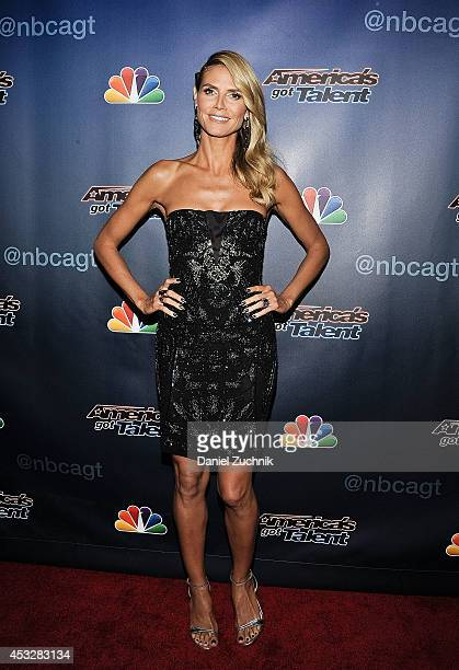Heidi Klum attends America's Got Talent season 9 post show red carpet event at Radio City Music Hall on August 6 2014 in New York City