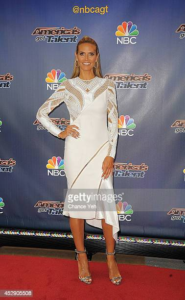Heidi Klum attends America's Got Talent season 9 preshow red carpet event at Radio City Music Hall on July 29 2014 in New York City