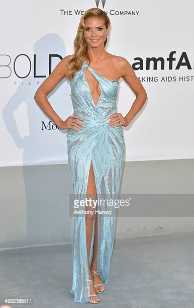 Heidi Klum attends amfAR's 21st Cinema Against AIDS Gala, Presented By WORLDVIEW, BOLD FILMS, And BVLGARI at the 67th Annual Cannes Film Festival on...