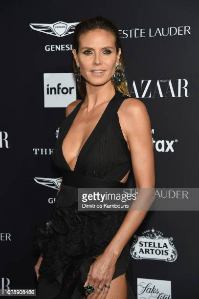 """Heidi Klum attends as Harper's BAZAAR Celebrates """"ICONS By Carine Roitfeld"""" at the Plaza Hotel on September 7, 2018 in New York City."""
