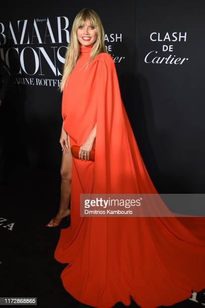 "Heidi Klum attends as Harper's BAZAAR celebrates ""ICONS By Carine Roitfeld"" at The Plaza Hotel presented by Cartier - Arrivals on September 06, 2019..."