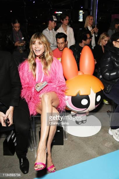 Heidi Klum attends Christian Cowan x The Powerpuff Girls Runway Show at City Market Social House on March 08 2019 in Los Angeles California