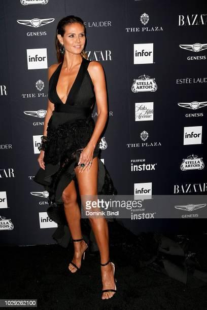 Heidi Klum attends Harper's BAZAAR Celebrates 'ICONS By Carine Roitfeld' at The Plaza Hotel on September 7 2018 in New York City