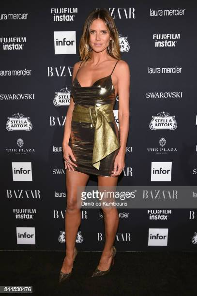 Heidi Klum attends Harper's BAZAAR Celebration of 'ICONS By Carine Roitfeld' at The Plaza Hotel presented by Infor Laura Mercier Stella Artois...