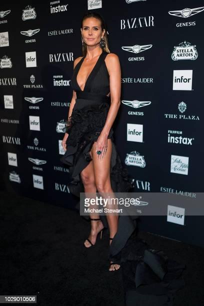 Heidi Klum attends Harper's BAZAAR ICONS at The Plaza Hotel on September 7 2018 in New York City