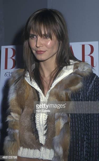 Heidi Klum attends Harper's Bazaar Issue Party on January 14 2002 at Eyebeam Atelier in New York City