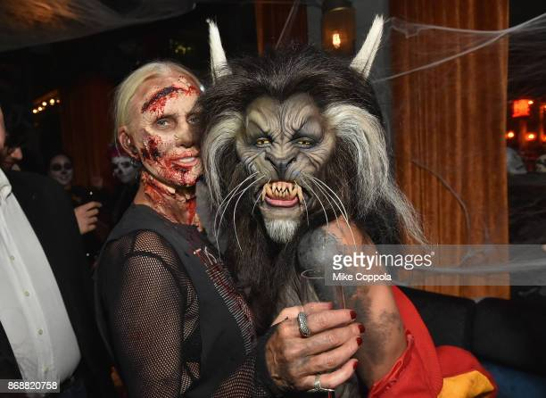 Heidi Klum attends Heidi Klum's 18th Annual Halloween Party presented by Party City and SVEDKA Vodka at Magic Hour Rooftop Bar Lounge at Moxy Times...