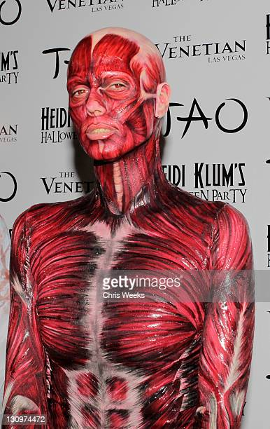 Heidi Klum attends her 12th Annual Halloween Party at TAO Nightclub at the Venetian on October 29 2011 in Las Vegas Nevada