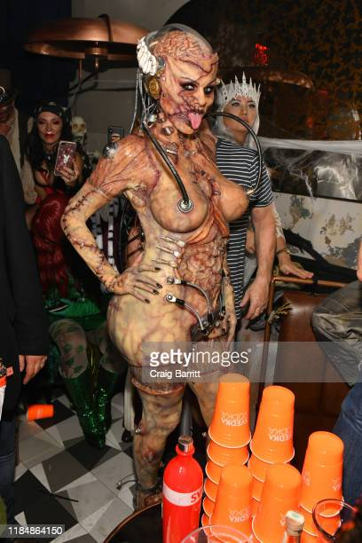 Heidi Klum attends her 20th Annual Halloween Party presented by Amazon Prime Video and SVEDKA Vodka at Cathédrale New York on October 31, 2019 in New...