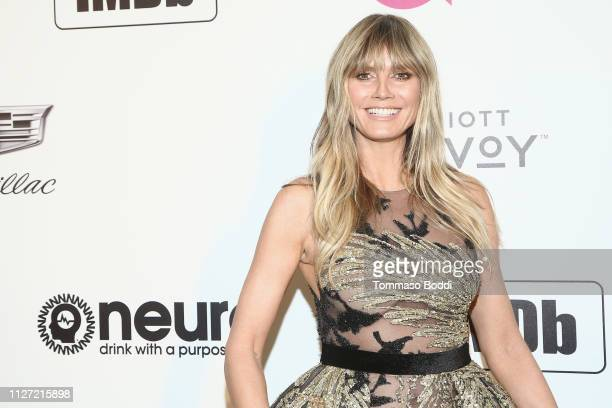 Heidi Klum attends IMDb LIVE At The Elton John AIDS Foundation Academy Awards® Viewing Party on February 24, 2019 in Los Angeles, California.