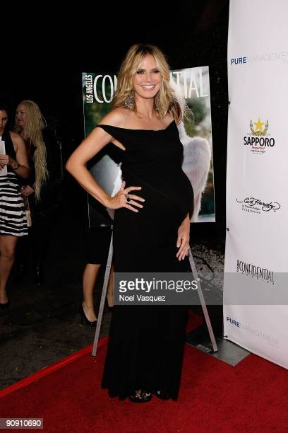 Heidi Klum attends Los Angeles Confidential magazine's annual pre-Emmy party, hosted by Heidi Klum and Niche Media CEO Jason Binn, held at a private...