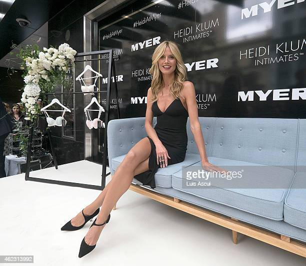 Heidi Klum attends Myers launch of her Intimates Collection at Myer Bourke Street Mall on January 27 2015 in Melbourne Australia