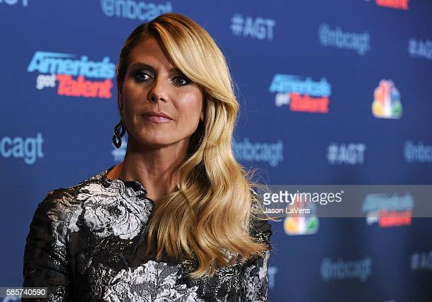 Heidi Klum attends NBC's America's Got Talent season 11 live show at Dolby Theatre on August 2 2016 in Hollywood California