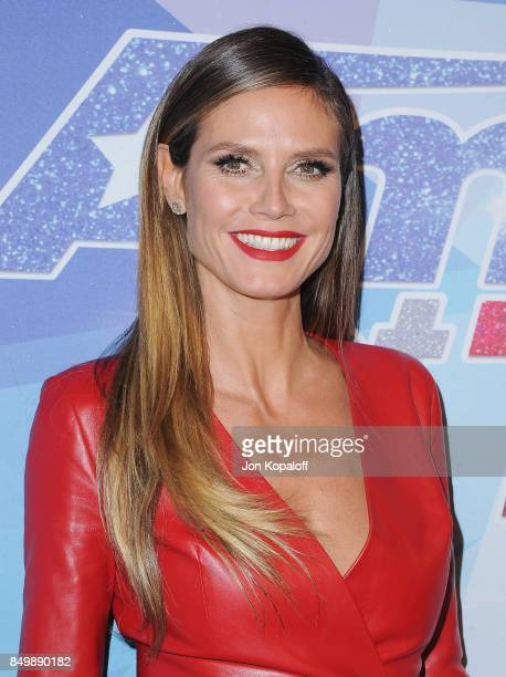 Heidi Klum attends NBC's America's Got Talent Season 12 Finale Week at Dolby Theatre on September 19 2017 in Hollywood California