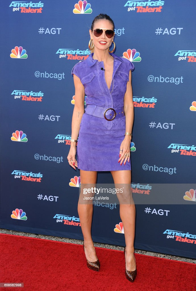 Heidi Klum attends NBC's 'America's Got Talent' season 12 kickoff at Pasadena Civic Auditorium on March 27, 2017 in Pasadena, California.