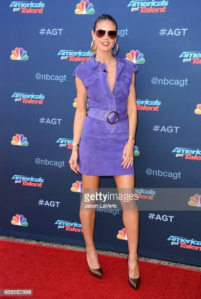 "Heidi Klum attends NBC's ""America's Got Talent"" season 12 kickoff at Pasadena Civic Auditorium on March 27, 2017 in Pasadena, California."