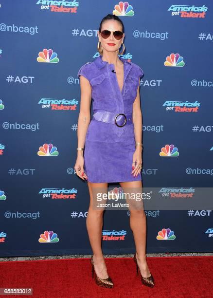 Heidi Klum attends NBC's America's Got Talent season 12 kickoff at Pasadena Civic Auditorium on March 27 2017 in Pasadena California