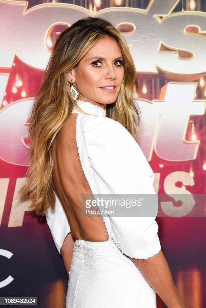 Heidi Klum attends NBC's America's Got Talent The Champions at Sheraton Pasadena Hotel on October 10 2018 in Pasadena California