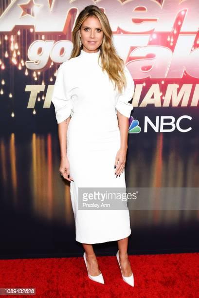 Heidi Klum attends NBC's America's Got Talent The Champions at Sheraton Pasadena Hotel on October 10 2018 in Pasadena California