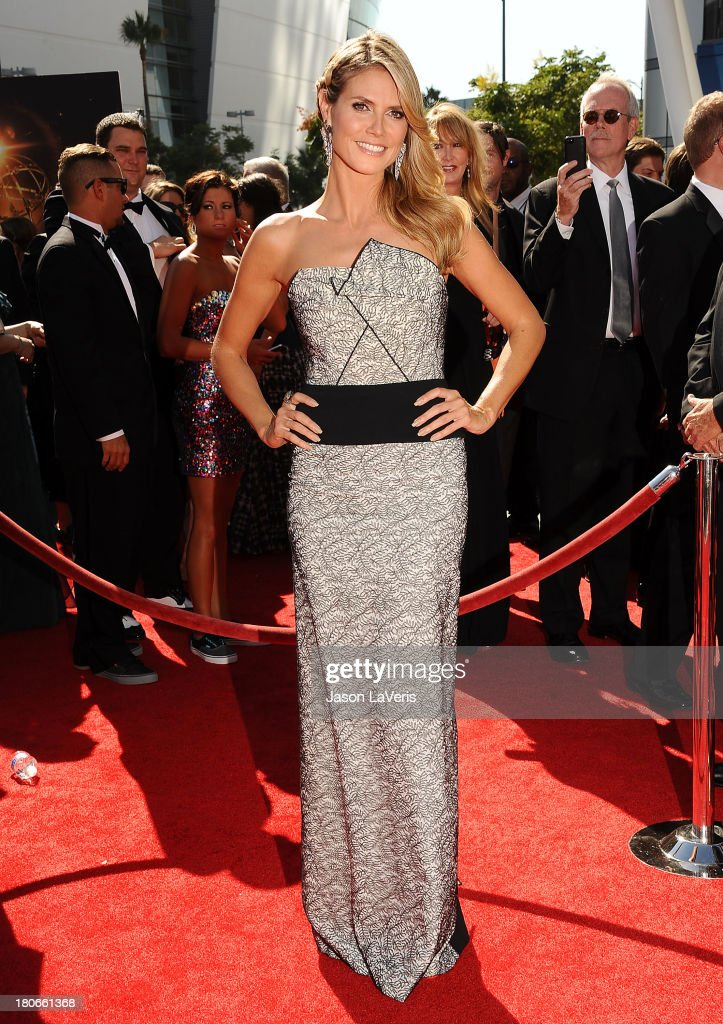 Heidi Klum attends the 2013 Creative Arts Emmy Awards at Nokia Theatre L.A. Live on September 15, 2013 in Los Angeles, California.