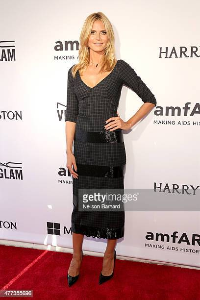 Heidi Klum attends the 2015 amfAR Inspiration Gala New York at Spring Studios on June 16 2015 in New York City