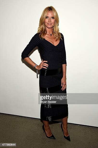 Heidi Klum attends the 2015 amfAR Inspiration Gala New York at Spring Studios on June 16, 2015 in New York City.