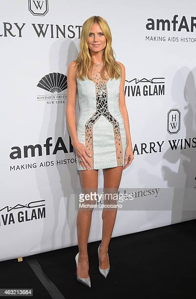 Heidi Klum attends the 2015 amfAR New York Gala at Cipriani Wall Street on February 11 2015 in New York City