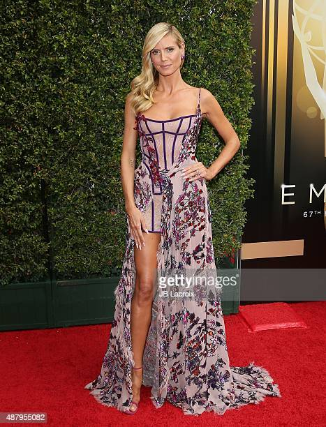 Heidi Klum attends the 2015 Creative Arts Emmy Awards at Microsoft Theater on September 12 2015 in Los Angeles California