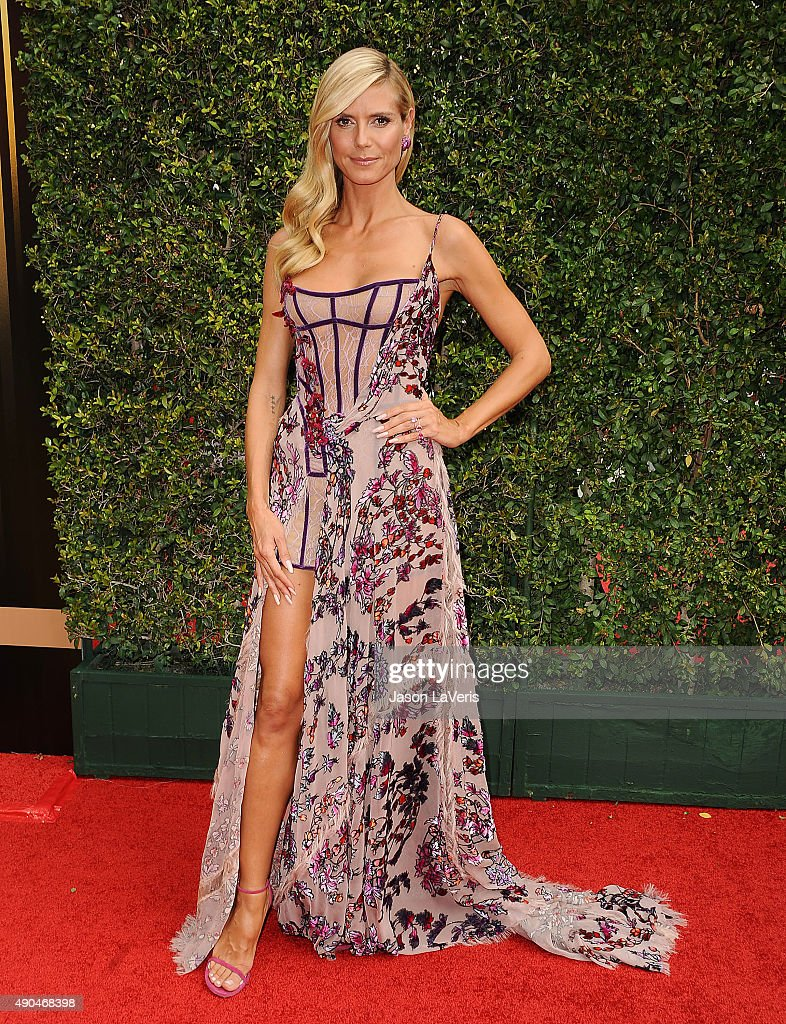 Heidi Klum attends the 2015 Creative Arts Emmy Awards at Microsoft Theater on September 12, 2015 in Los Angeles, California.