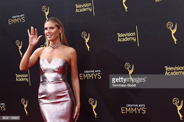 Heidi Klum attends the 2016 Creative Arts Emmy Awards held at Microsoft Theater on September 11 2016 in Los Angeles California