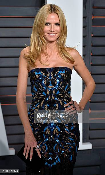 Heidi Klum attends the 2016 Vanity Fair Oscar Party hosted By Graydon Carter at Wallis Annenberg Center for the Performing Arts on February 28 2016...