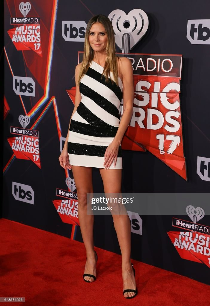 Heidi Klum attends the 2017 iHeartRadio Music Awards at The Forum on March 5, 2017 in Inglewood, California.