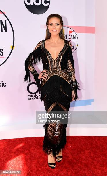 Heidi Klum attends the 2018 American Music Awards at Microsoft Theater on October 9 2018 in Los Angeles California