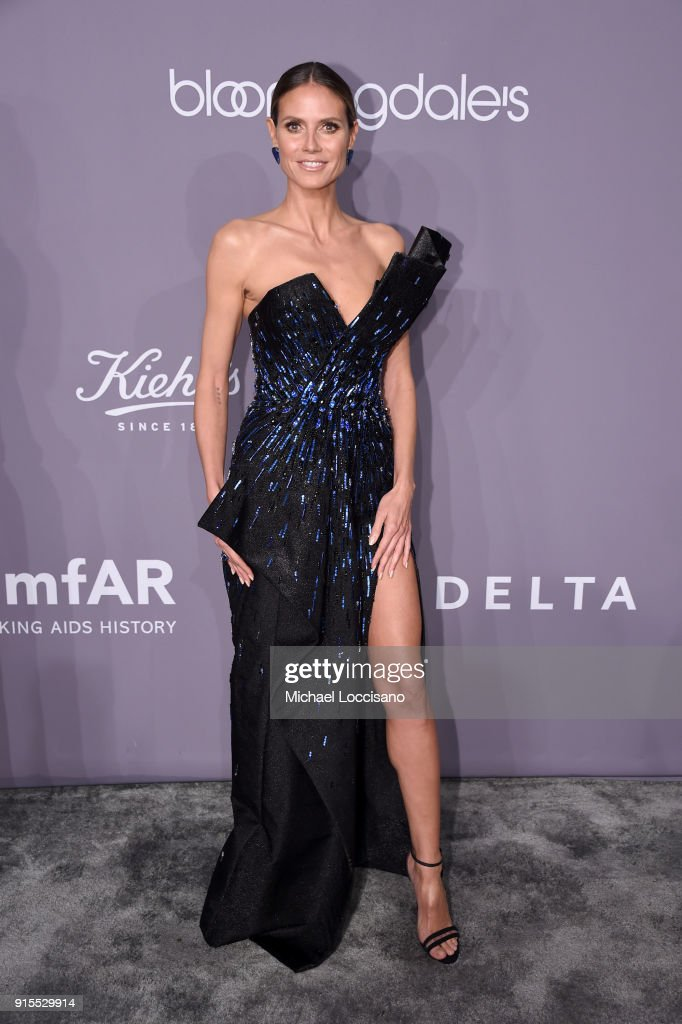 Sequins and thigh-high slits stand out at AmfAR Gala 2018