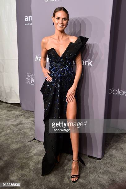 Heidi Klum attends the 2018 amfAR Gala New York at Cipriani Wall Street on February 7 2018 in New York City