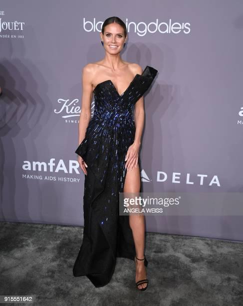 Heidi Klum attends the 2018 amfAR Gala New York at Cipriani Wall Street on February 7 2018 in New York City / AFP PHOTO / ANGELA WEISS